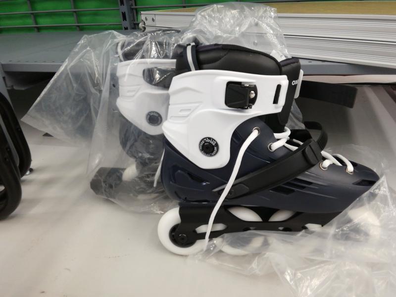 Inline Skates Inliner Freeride MF500 Hardboot Erwachsene blau/weiß