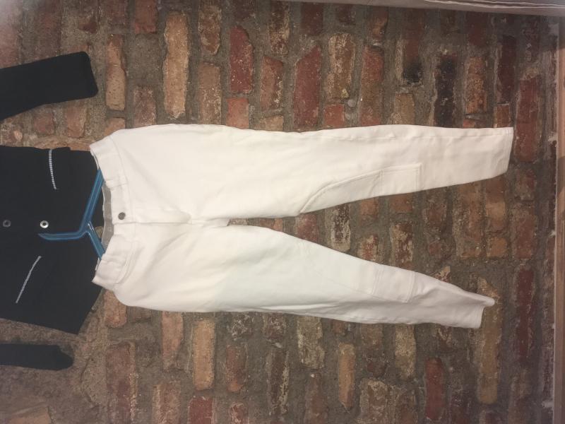 Pantalones equitacion hipica concurso competicion blancos
