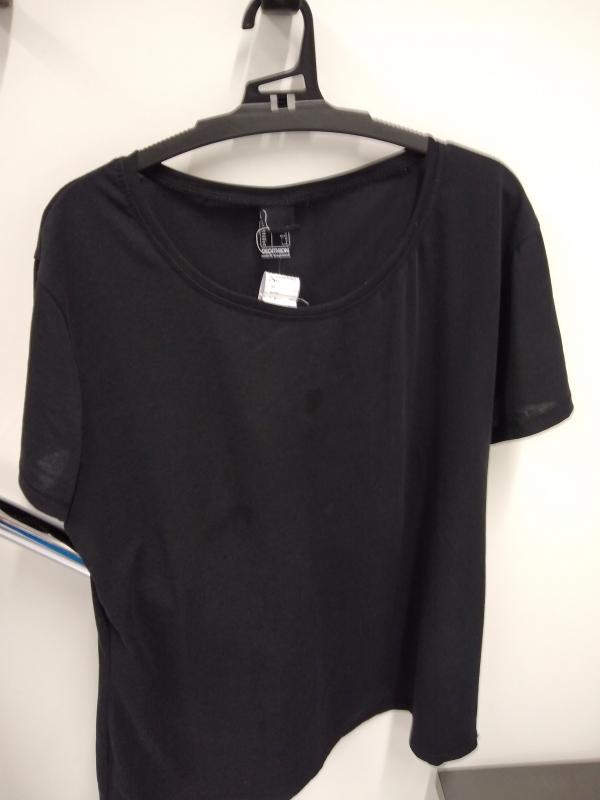 Camiseta Mujer Manga Corta Algodón Fitness Negro