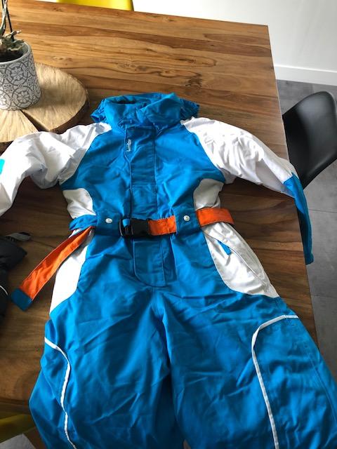 Combinaison de ski enfant 8 ans coloris bleu et blanc