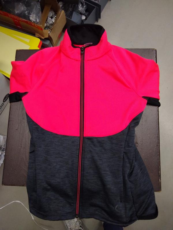Survêtement chaud, synthétique respirant S500 fille GYM ENFANT rose gris