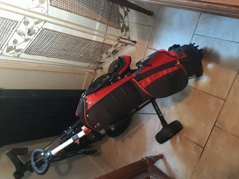 Sac et chariot de golf enfant