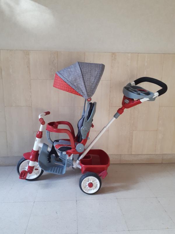 Tricycle évolutif 4 en 1 canne directionnelle