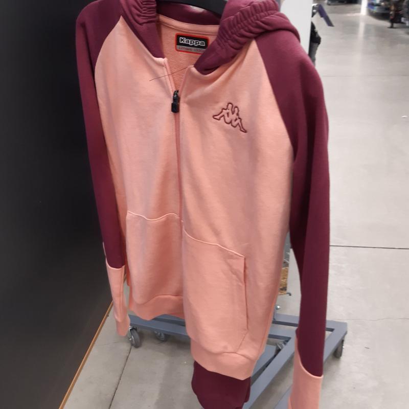 Tuta da ginnastica bambina Belia in cotone prugna-rosa