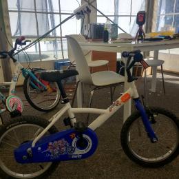 Bicicleta niño blanca