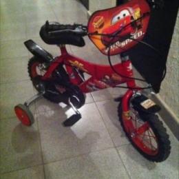 Bicicleta 12 pulgadas. Dibujos CARS