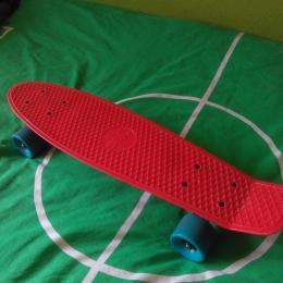 Mini Skateboard niño ok plástico rojo