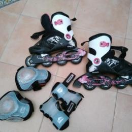 patines niña talla 34-36 y protectores
