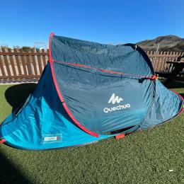 Tienda de Camping Quechua MH100 2 Seconds 3 Personas Azul