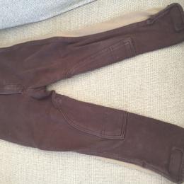Pantalon équitation enfant basanes marron