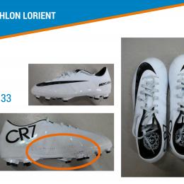 CHAUSSURE DE FOOTBALL ENFANT VICTORY CR7 FG BLANCHE NIKE t.33