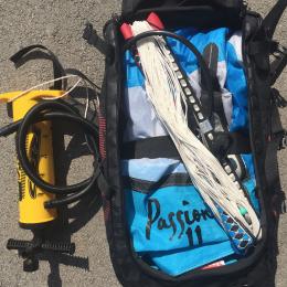 Pack : Voile Kite RRD Passion 11m2 avec barre + planche Xenon + harnais ceinture