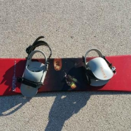 snowboard no limit hammer rouge
