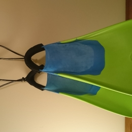 Palmes bodyboard 500 verte bleue