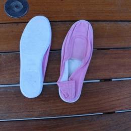 chaussons gym roses taille 30