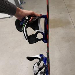 tavola snowboard  burton con attacchi